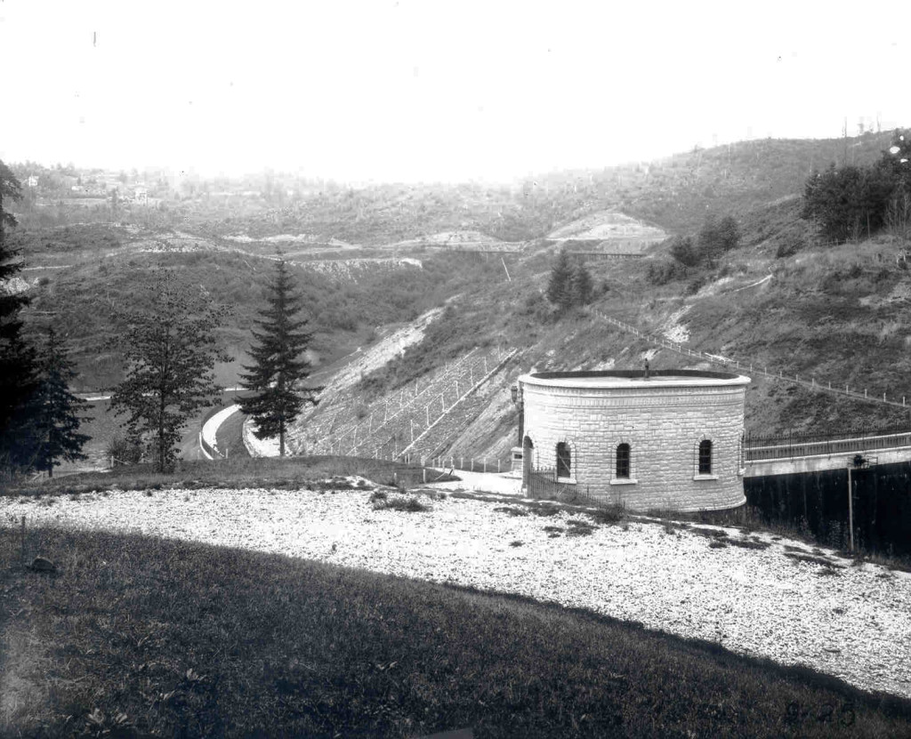 Historic 1894 photo of WA Park Reservoir 3