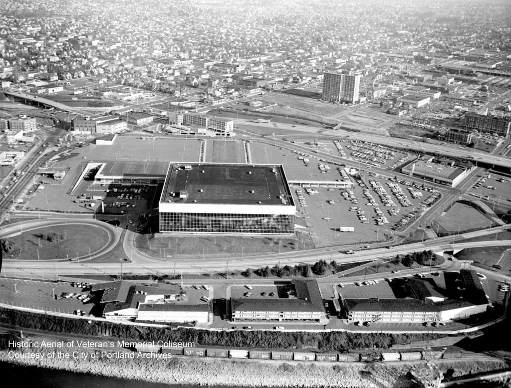 Historic Aerial of Memorial Coliseum